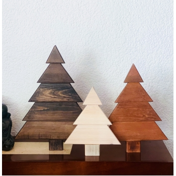 Juego de 3 Pinos navideños