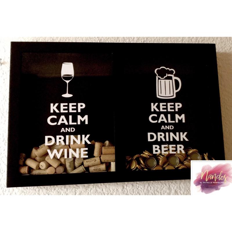 GUARDA CORCHOS Y CORCHOLATAS KEEP CALM AND DRINK WINE AND BEER