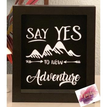 Alcancía o guarda tickets Say yes to new adventure