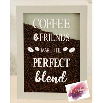 Cuadros con granos de café